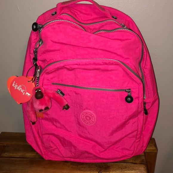Kipling Bags Hot Pink Backpack Poshmark